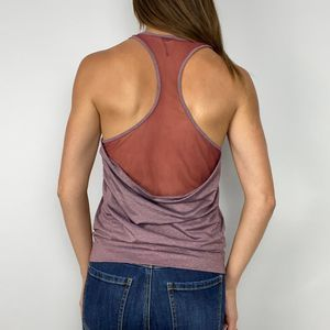 Alo Red Mesh Back Racerback Tank Top